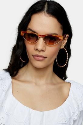 Topshop Womens Slim Orange Sunglasses - Orange