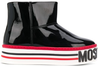Moschino Flatform ankle boots