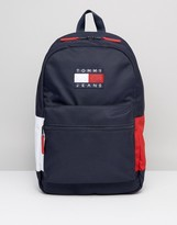 Tommy Jeans Nylon Backpack Icon Colours In Navy