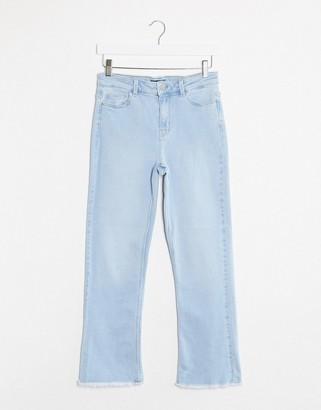 Pieces Amelia kick flare mid waist jeans