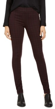 Style&Co. Style & Co Petite Plaid Ponte Legging, Created for Macy's