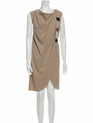 Derek Lam Wool Knee-Length Dress Wool