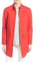 Vince Camuto Women's Stand Collar Ponte Zip Front Coat