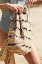 Urban Outfitters Striped Cotton Drawstring Backpack