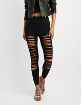 Charlotte Russe Slashed Cotton Leggings