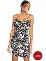 Miss Selfridge Floral Bandeau Dress