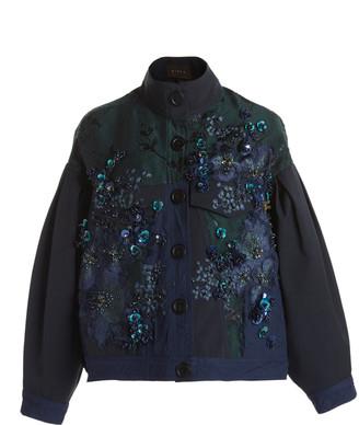 Biyan Callison Embellished Lame Jacket