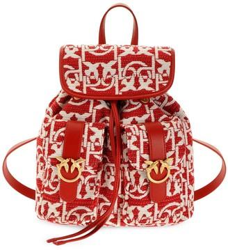Pinko Woven Logo Backpack