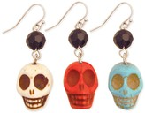 Z Designs Stone Skull Earrings