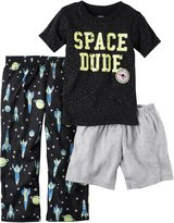 "Carter's Little Boys' Toddler ""Space Dude"" 3-Piece Pajamas"