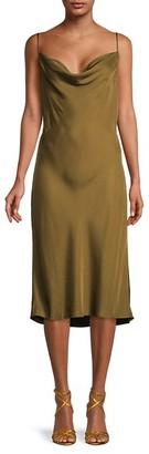 Frame Cowlneck Slip Dress
