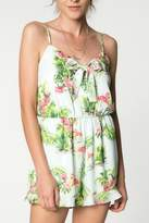 Everly Hawaiian Print Romper