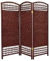 Oriental Furniture 4 ft. Tall Fiber Weave Room Divider (3 Panels)
