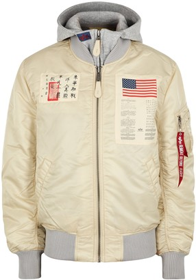 Alpha Industries MA-1 D-Tec Blood Chit Bomber Jacket