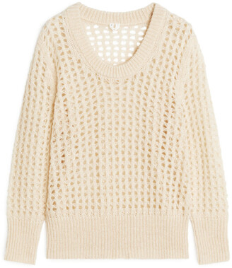 Arket Lace Stitch Wool Blend Jumper