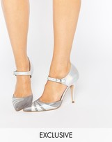 Terry De Havilland Fran Silver Irredescent Heeled Shoes