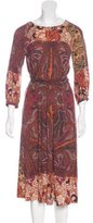 Etro Wool Printed Dress