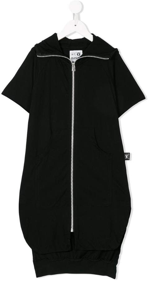 Nununu long zipped cardi-jacket