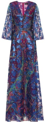 Etro Paisley silk-blend maxi dress