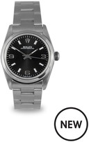 Rolex Rolex Preowned Oyster Perpetual Black Dial Midsize Watch Ref 77080