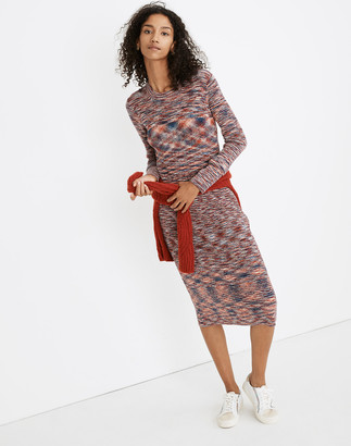 Madewell Space-Dyed Midi Sweater Dress