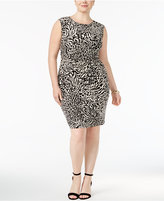 Anne Klein Plus Size Ruched Sheath Dress