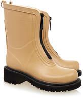 Ilse Jacobsen Mid Beige Zip Front Rubber Wellington Boot