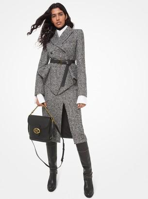 Michael Kors Collection Herringbone Tweed Pencil Skirt