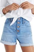 Madewell Button Front High Waist Denim Shorts
