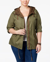 American Rag Trendy Plus Size Hooded Anorak, Only at Macy's