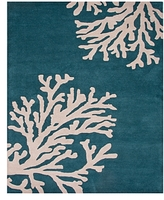 Jaipur Coastal Seaside Bough Area Rug, 9'6 x 13'6