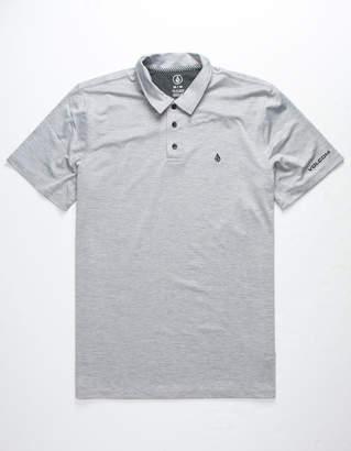 Volcom Wowzer Hazard Heather Gray Mens Polo Shirt