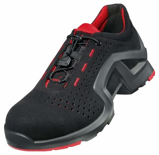UVEX 1 X-Tended Support Work Shoe - Safety Trainer S1 SRC ESD - Red-Black - Size 6