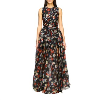 Ermanno Scervino Long Dress In Printed Silk