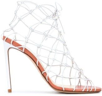 Francesco Russo High Heel Caged Sandals