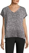 Lafayette 148 New York Women's Slit Tape Yarn Sweater