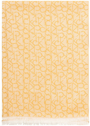 Calvin Klein A9WS6015 Monogram Logo Pashmina Scarf