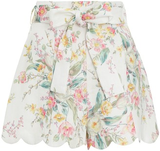 Zimmermann Zinnia High Waisted Shorts