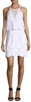 Nicholas Sunflower Lace Tiered Mini Dress