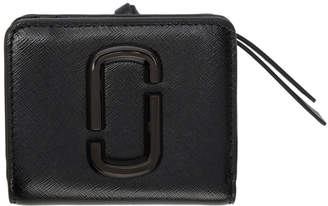 Marc Jacobs Black Mini Snapshot Compact Wallet
