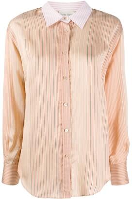 Forte Forte Striped Contrasting Collar Shirt