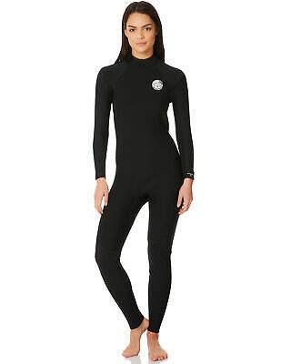 Rip Curl Women's Dawn Patrol 3X2 Gb Back Zip Steamer Wetsuit Black 14