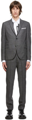 Neil Barrett Grey Light Stripe Wool Suit