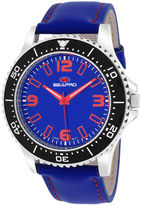 Seapro Tideway Mens Blue Dial Blue Leather Strap Watch