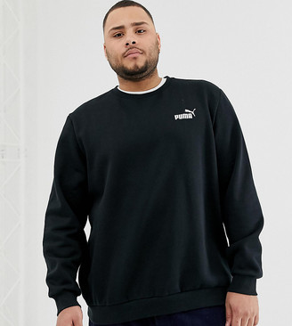 Puma PLUS Essentials sweat with small logo in black