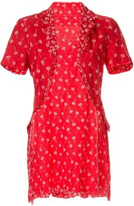 Comme Des Garçons Pre-Owned Floral Dress, Underskirt & Bolero Set