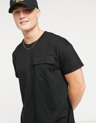 Tom Tailor t-shirt with pocket in black