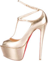 Christian Louboutin Alta Poppins T-Strap Pumps