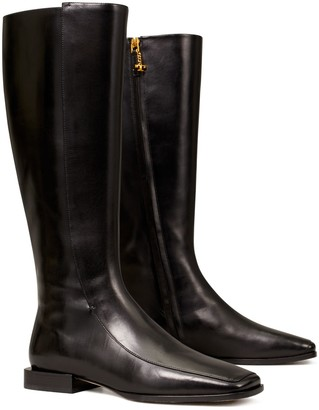 Tory Burch Square-Toe Knee Boot