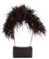 Christian Louboutin Artemis Ostrich Feather Shoulder Bag w/ Tags